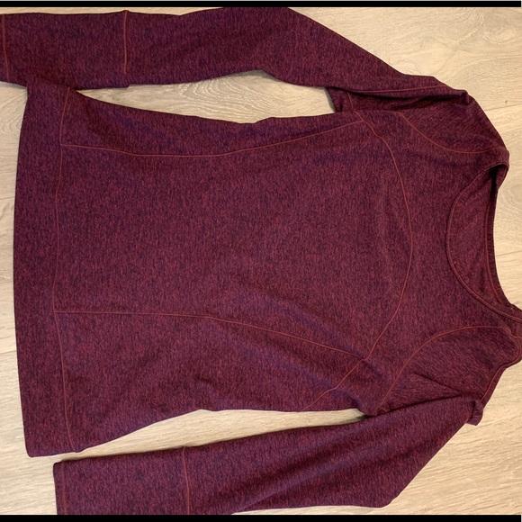 Burgundy long sleeve size 8 lululemon